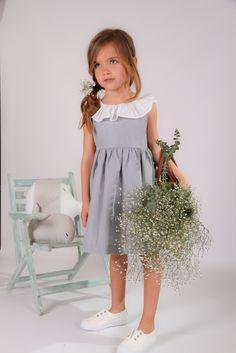 Vestido Celia lino gris
