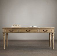 """French Partner's Desk - RH's French Partner's Desk:Inspired by a 19th-century antique, our reproduction of this French neoclassical desk offers ample room for two, 60"""" or 79"""" $970-1275"""