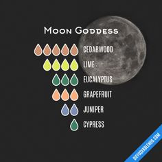 Moon Goddess Essential Oils Diffuser Blend ••• Buy dōTERRA essential oils online at www.mydoterra.com/suzysholar, or contact me suzy.sholar@gmail.com for more info.