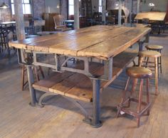 This industrial table would be very cool in new house!