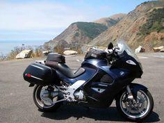 My 2003 K1200GT at the Big Creek Bridge overlook on Calif. Hwy. 1 south of Big Sur.