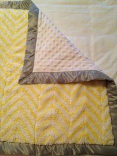 DIY: Chevron Minky Baby Blanket