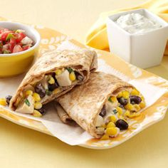 Skillet Chicken Burritos Recipe- Recipes  This is a go-to dish when I'm in a rush to make dinner. Preparing them in the skillet not only saves time, it gives the burritos a crispy outside and ooey, gooey inside. —Scarlett Elrod, Newnan, Georgia