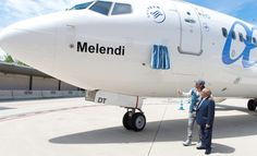 "Bautizo del Avión ""Melendi"" de Air Europa"