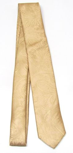 This trendy skinny tie is made of a 100% silk, all new material. It measures 58 long and 2 at the widest point.