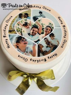 Add this beautiful Heart Photo Collage topper on cakes, cupcakes or any sweet treats. Perfect for a birthday, anniversary or any special occasion. Perfect for Cakes, Cupcakes, Cookies and Biscuits. Personalised Photo Cake, Personalized Cakes, Edible Printing, Adoption Party, Romantic Surprise, Edible Cake, Cake Art, Cake Toppers, Cake Decorating