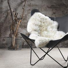 Lammeskind i ivory fra Natures Collection - Skind - DesignFund