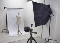 Simple photo studio setup.