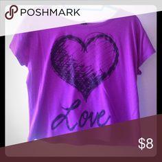Purple Love Tee Gently used Tops Tees - Short Sleeve