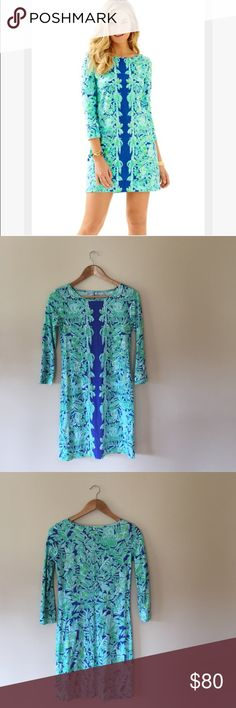 """Lilly Pulitzer Marlowe boatneck t-shirt dress This beautiful dress is in excellent condition, worn once. Adorable print has pandas, koalas, lemurs, and bamboo. 100% Pima cotton. 33.5"""" long, 16"""" armpit to armpit laying flat.    Ships from Hawaii 🌺 No trades 😇 Reasonable offers welcome 👍🏻 Bundle & save 💰 Lilly Pulitzer Dresses"""