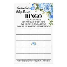 Blue Baby Shower Bingo english spanish game card Baby Bingo, Baby Shower Bingo, Baby Shower Parties, Baby Shower Invitations, Shower Party, Spanish Games, Custom Flyers, Baby Shower Flowers, Fine Paper