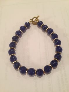 Blue lapis handmade beaded bracelet
