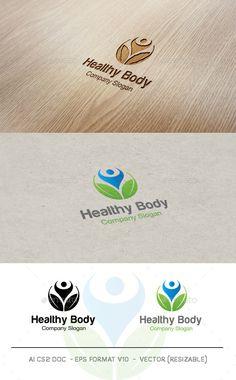 Healthy Body V2 - Logo Design Template Vector #logotype Download it here: http://graphicriver.net/item/healthy-body-v2-logo/9548566?s_rank=1574?ref=nexion
