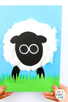 Spring Lamb Craft - Arty Crafty Kids Spring Lamb Craft Spring Lamb for kids to make this Easter. With its woobly, bouncy head, this lamb is playful Easter or Spring Craft that kids will love. Paper Crafts For Kids, Easy Crafts For Kids, Toddler Crafts, Preschool Crafts, Fun Crafts, Art For Kids, Arts And Crafts, Kids Diy, Easter Crafts Kids