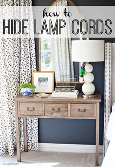 {Project Rewind} How to Hide Lamp Cords