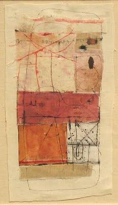 Hannelore Baron - mixed media collage, the pieces work together until the walls fall away.