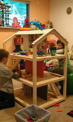 Pets, Home & Garden: Ideal toys for small cats Doll House For Boys, Doll House Plans, Wooden Dollhouse, Diy Dollhouse, Dollhouse Bookcase, Dollhouse Furniture Kits, Boys Furniture, Furniture Plans, Doll Closet