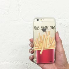 "Clear Plastic Case Cover for iPhone 6 (4.7"") Fries Before Guys"