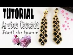 Seed Bead Earrings, Beaded Earrings, Beaded Bracelets, Tatting Jewelry, Bead Jewellery, Diy Beaded Rings, Beaded Necklace Patterns, Bracelet Crafts, Earring Tutorial