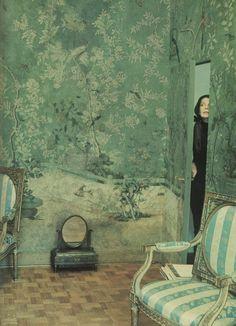My dream Chinese wallpaper - Pauline de Rothschild's Paris Bedroom