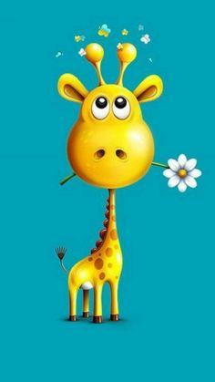 Love this sweet giraffe by Alexandre Efimov illustrations Giraffe Art, Cute Giraffe, Giraffe Drawing, Cartoon Giraffe, Giraffe Painting, Art And Illustration, Giraffe Illustration, Illustrations, Art Fantaisiste