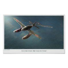 """Aviation Art Poster """"Aichi M6A Seiran """""""