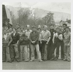 A section of a larger group I guess ~ Leuchars & Kinloss MRT group 1978 ? I see in here L-R, B-F (Brig) Brigginshaw, Birty Birtwhistle, Byrne, Bob Anderson, Ginge Main, Bart ?, Mick Trimby, Les Boswell, Mark Sinclair(Cheeky), Shorty Loftus, Jim Morning, Cas Taylor, Tom MacDonald & Eric Hughes. [will add others as able to].