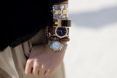 Armful of watches- what a chic look! Heidi Mackay, Marketing Coordinator