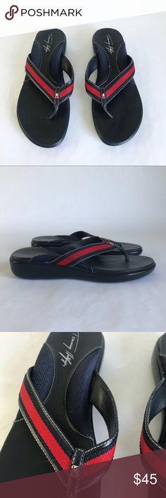 728d21e9dff2f Tommy Hilfiger Vintage 7.5 Flip Flop Sandals Tommy Hilfiger Vintage 7.5 Flip  Flop Sandals. Navy