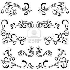 装飾的な装飾のセット ストックフォト - 7269481