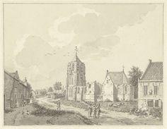 Hermanus Petrus Schouten | De kerk in het dorp Acquoy, Hermanus Petrus Schouten, 1757 - 1822 |