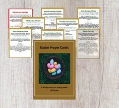 This resource is a Set of Prayer Cards: one for every week of Easter up to Pentecost Sunday. I teach students at all levels in a variety of subjects. Follow my store to learn about my products, sales, promotions and freebies.