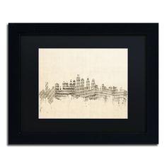 Philadelphia Sheet Music II by Michael Tompsett Framed Graphic Art in Black