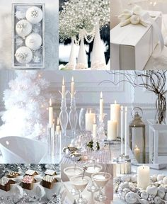 White Christmas Wedding Ideas Mood Board