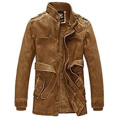 Brown Leather Jacket With Belts  | Seen here --> StyleSocietyGuyBlog.com