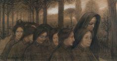 Domenico Baccarini - Mattino puro - 1903 (matita contè)    Mostra  Domenico Baccarini I disegni dalle Collezi...