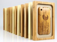 Bamboo carved iPhone case
