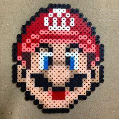 Mario perler beads by haruka_29_chan
