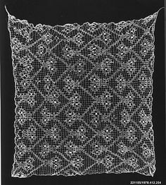 Openwork Headband  Date: 12th–15th century  Geography: Peru  Culture: Chancay  Medium: Cotton  Dimensions: H x W: 24 3/4 x 23 1/2in. (62.9 x 59.7cm)  Classification: Textiles-Non-Woven  Accession Number: 1978.412.254