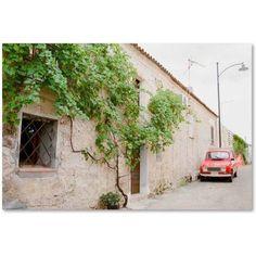 Trademark Fine Art 'Red Car' Canvas Art by Ariane Moshayedi, Size: 30 x 47, Multicolor