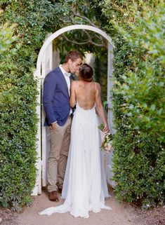 Merribee House Wedding, Grace loves lace back of dress bride and groom