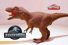 Making Alpha T Rex Dinosaur from Jurassic World with Play Doh