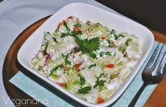 Salada de chuchu com maionese vegana - Veganana