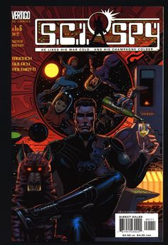 "SCI-SPY #1 Doug Moench,Paul Gulacy, ""James Bond in Outer Space"", Science Fiction, Espionage,Illustrated Vertigo DC Comics"