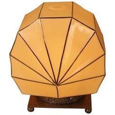 Stunning French Art Deco Clamshell Table Lamp