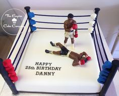 Boxing Ring Cake Figures Hand Made From Chocolate Southend On Sea cakepins.com