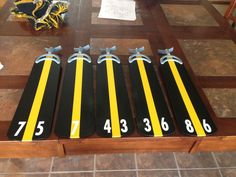 Man cave ceiling fan blades!  Actually sons room.  Yep we love the steelers! #steelernation
