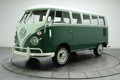 1965 Volkswagen Microbus 13-Window Green