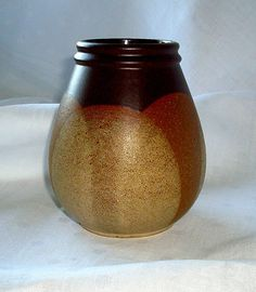 West Geramn Pottery, Steuler vase in brown and gold tones. Mid century modern.60's.