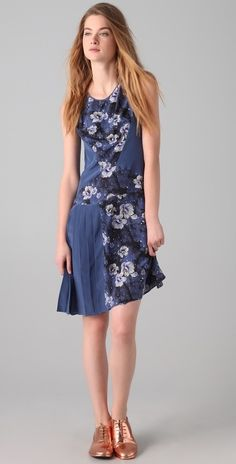 Richard Chai Love Galaxy Floral Dress thestylecure.com